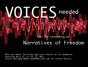 Loan your voice to the Sound of Freedom!