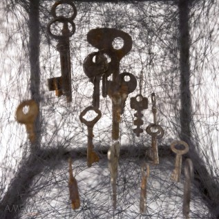 "detail of ""State of Being (Keys)"" by Chiharu Shiota"
