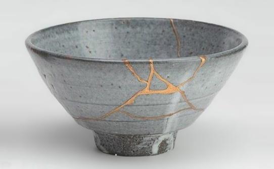 Example of the kintsugi technique